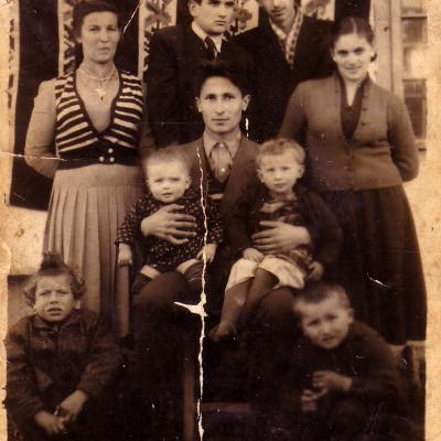 Young man Zoran with family in Brdarica